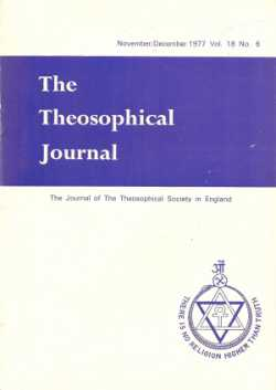 cover Theosophical Journal