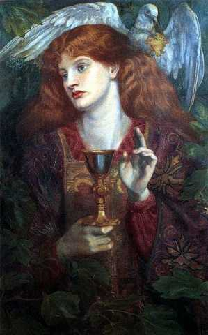 The Damsel of the Sanct Grael or Holy Grail, Dante Gabriel Rossetti,